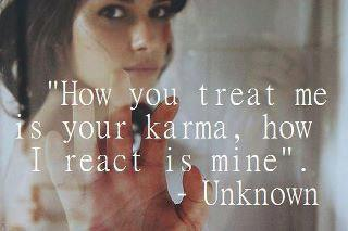 karma of dealing with angry people