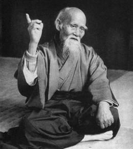 Morihei Ueshiba - the famous master of martial art - Aikido.