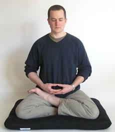 half lotus meditation posture
