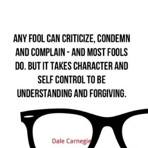 any fool can criticize